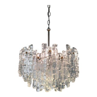 Austrian Ice Glass Crystal Chandelier by Kalmar