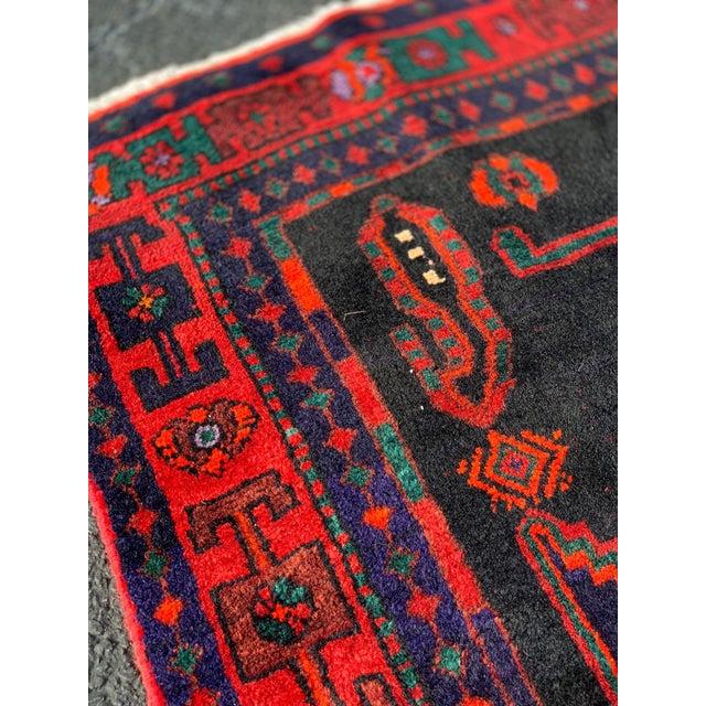 1960s Vintage Persian Bijar Runner Rug - 4′3″ × 11′4″ For Sale - Image 10 of 13