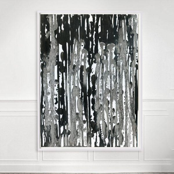 "Contemporary ""Rain #1"" Unframed Print For Sale - Image 3 of 3"