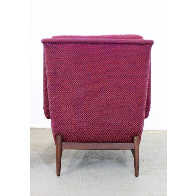 Mid-Century Danish Modern Ohlsson Style Bramin Teak Easy Lounge Chair & Ottoman For Sale In Philadelphia - Image 6 of 13