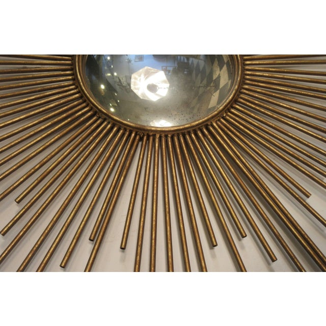 Contemporary Sunburst Convex Mirror For Sale - Image 3 of 10