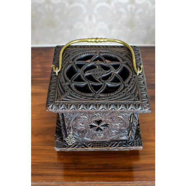 Metal Late 18th Century Wooden Foot Warmer For Sale - Image 7 of 11