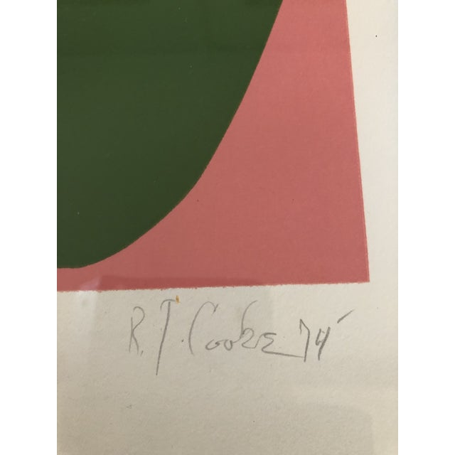 Original pencil Signed & Numbered Lithograph on paper by listed artist Robert Cooke Overall size with vintage frame...