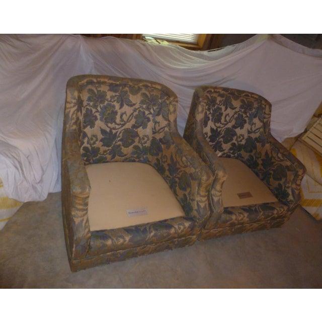 Bone Vintage Henredon Barrel Tub 2 Club Chair Good Frames - a Pair Mid Century Modern MCM Offer For Sale - Image 7 of 10