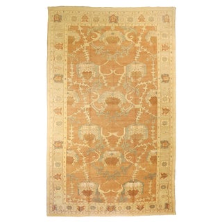 Turkish Donegal Red & Gray Botanical Rug-13′ × 20′6″ For Sale