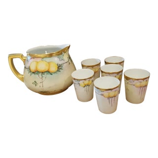 Limoges Lemonade Set - Set of 7 For Sale