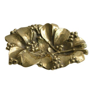 1950s Brass Mistletoe Dish Virginia Metalcrafters For Sale