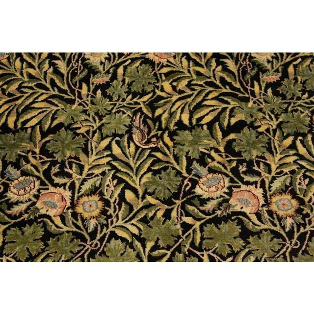 Textile Imran Pak-Persian Danette Black/Green Wool Rug - 4'1 X 6'0 For Sale - Image 7 of 8