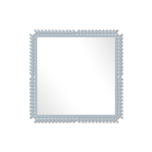 Fleur Home x Chairish Toulouse Trellis Mirror in Parma Gray, 24x24 For Sale - Image 4 of 4