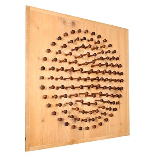 'Point of View' Wooden Spindle Sculpture For Sale