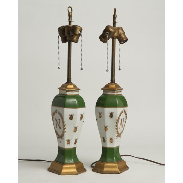 Late 19th Century French Napoleonic Lamps Style of Sèvres - a Pair For Sale In Philadelphia - Image 6 of 12