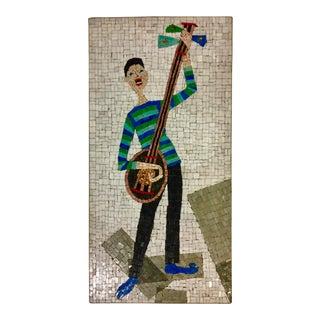 Vintage Mid-Century Italian Gondolier Mosaic For Sale