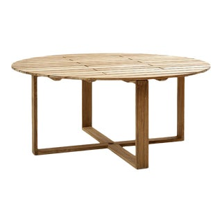 Cane-Line Endless Round Dining Table, Large For Sale