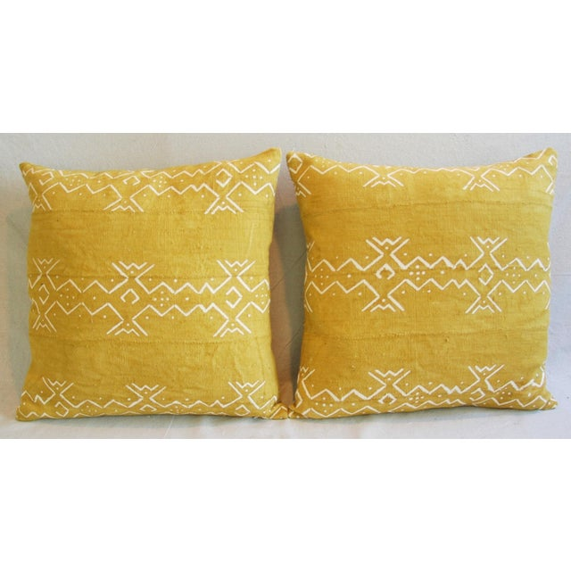 Handwoven Tribal Textile Feather/Down Pillows - Pair - Image 3 of 11