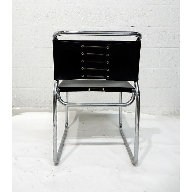 Nico Zograph Chrome Leather Sling Chairs - S/4 - Image 7 of 10
