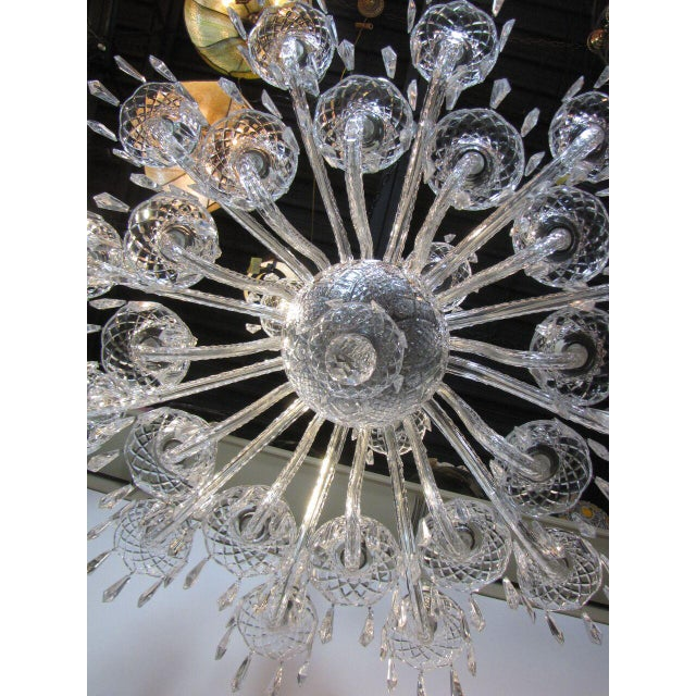 Crystal Large Waterford Chandelier For Sale - Image 7 of 10