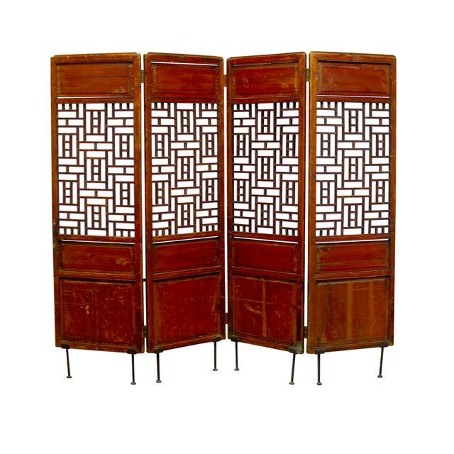 19th Century Lattice Panel Screen For Sale