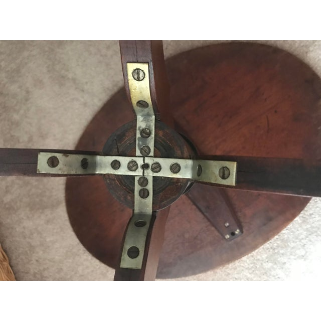 Antique Wood Parlor Table For Sale - Image 4 of 7