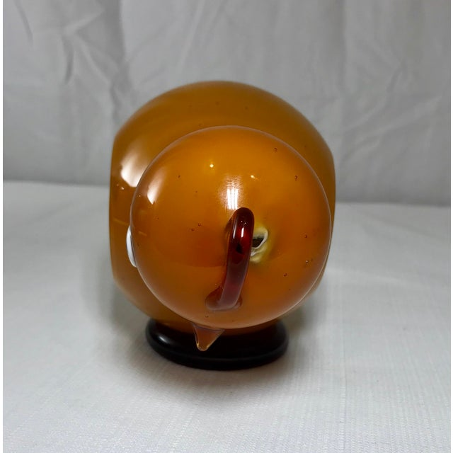 1970s Danish Modern Studio Art Glass Chicken Figurine For Sale - Image 4 of 13