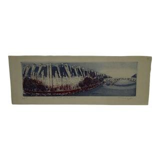 "Limited Edition ""Ile Saint Louis-Paris"" Signed Numbered (6/75) Print"