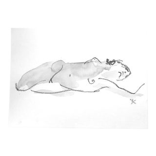One Minute Pose Nude 118.6 Contemporary Painting by Gretchen Kelly For Sale