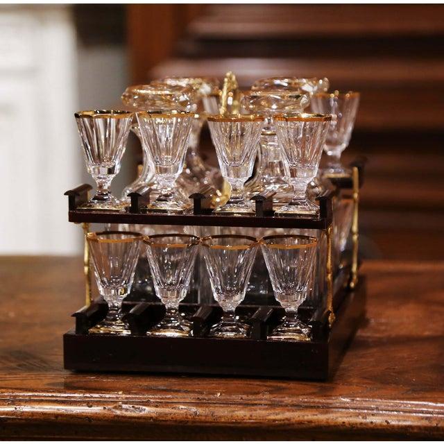 19th Century French Napoleon III Mahogany and Bronze Inlaid Liquor Box For Sale - Image 10 of 13
