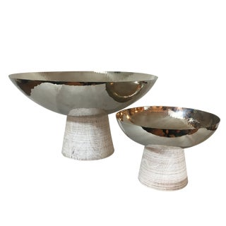 Mid-Century Modern Global Views Totem Bowls - a Pair For Sale
