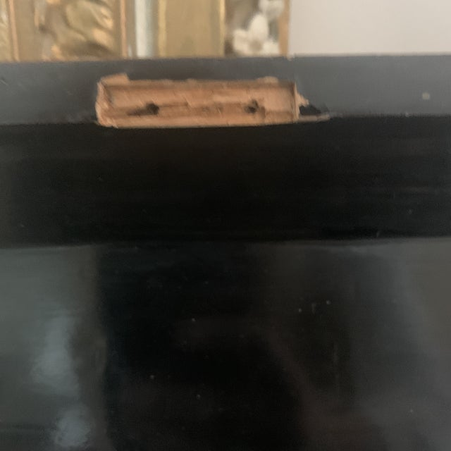 Wood Antique Chinese Iron Red Lacquered Sewing Box on Feet With Drawer For Sale - Image 7 of 12