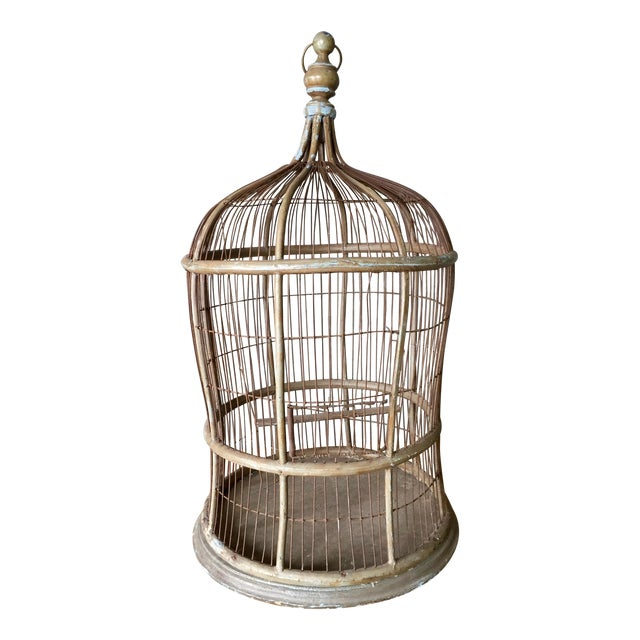 Antique Bentwood & Metal Bird Cage - Image 1 of 7