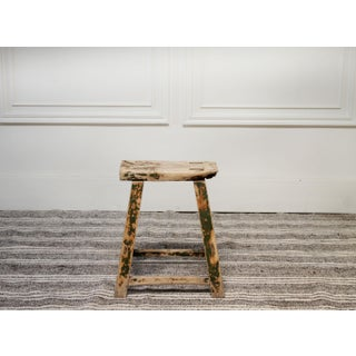 Antique Chinese Elmwood Painted Stool Preview