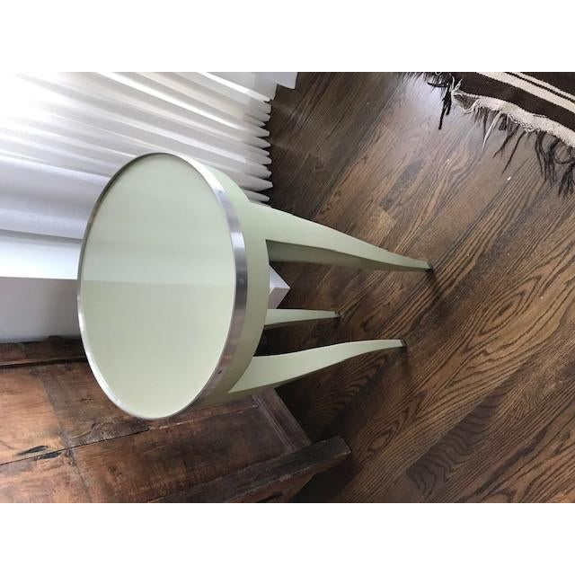 Donghia Donghia Green Side Table For Sale - Image 4 of 10