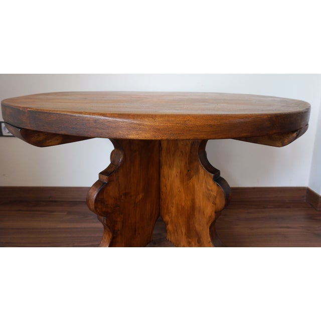 20th Century Rustic Round Coffee Table or Side Table - Image 6 of 7