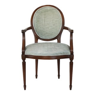 Oval-Back Fauteuil For Sale