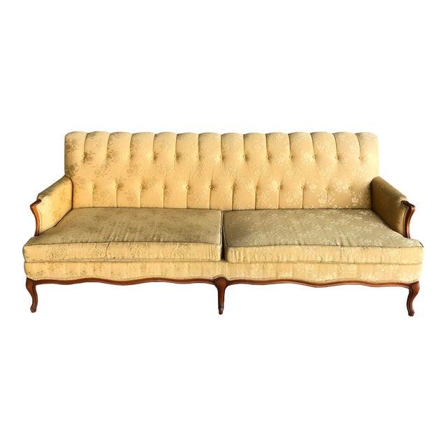 1950s Canterbury Home Inc Victorian Inspired Yellow Sofa Chairish