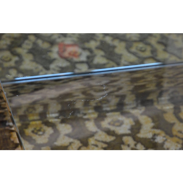 Large Chrome & Glass Leon Rosen Pace Collection Waterfall Cocktail Table 1970's For Sale - Image 9 of 11