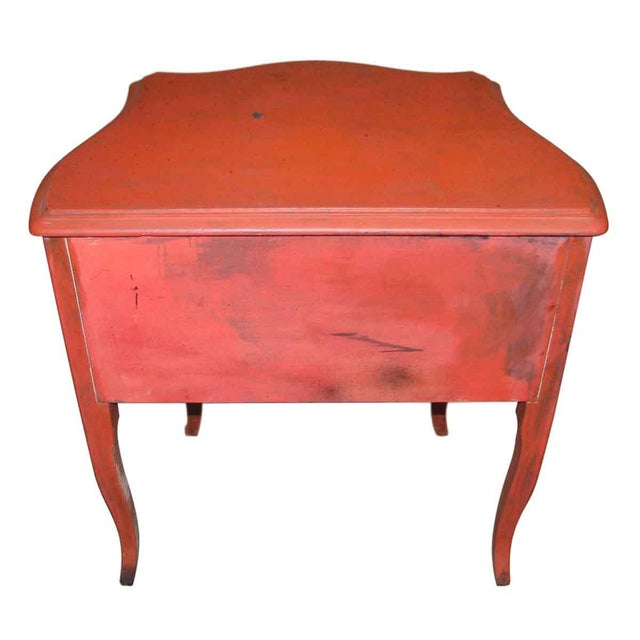 French French Country Red Nightstand For Sale - Image 3 of 6