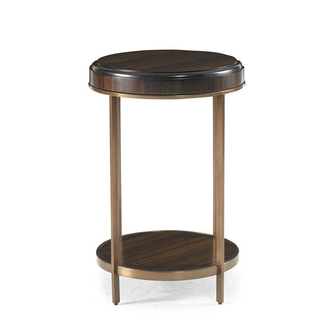 """The Capetown Round Accent Table This """"New Traditional"""" style spot table is a handsome combination of rubberwoods solids,..."""