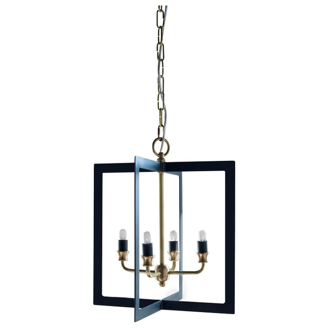 Geometrically designed light fixture- perfect in a kitchen or hallway