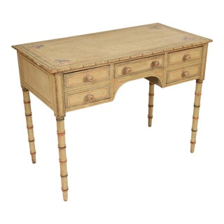 19th Century English Regency Painted Writing Desk For Sale