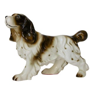 Ceramic Cocker Spaniel Dog Figurine
