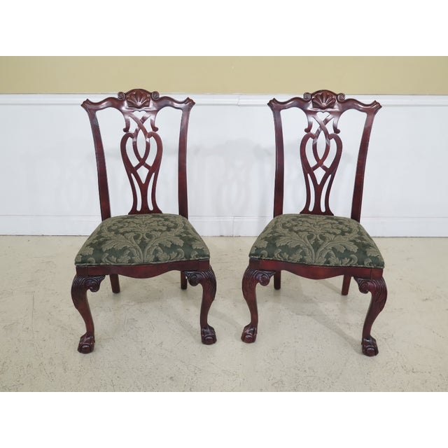 Set of 10 CENTURY Ball & Claw Dining Room Chairs. 15 years old. Ball and claw feet. 18th c. design and chippendale style....