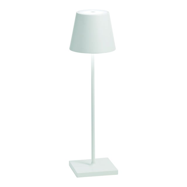 Zafferano White Rechargeable Indoor/Outdoor Cordless Table Lamp For Sale
