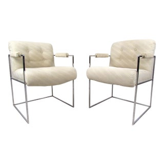 Pair of Vintage Modern Lounge Chairs by Milo Baughman For Sale