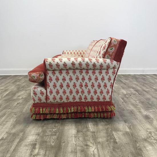 Kathy Ireland Bohemian Paisley Fabric Upholstered Sofa   Image 8 Of 9