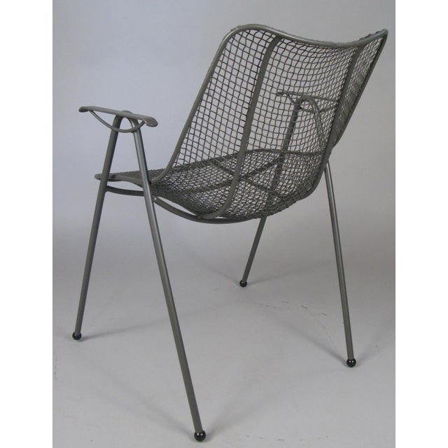 Woodard Furniture Co. 1950's Woodard Sculptura Patio Dining Chairs - Set of 6 For Sale - Image 4 of 12