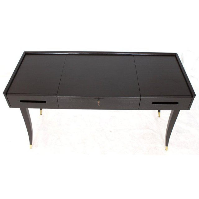 Tommy Parzinger Charak Modern Small Desk Writing Table Console For Sale In New York - Image 6 of 13