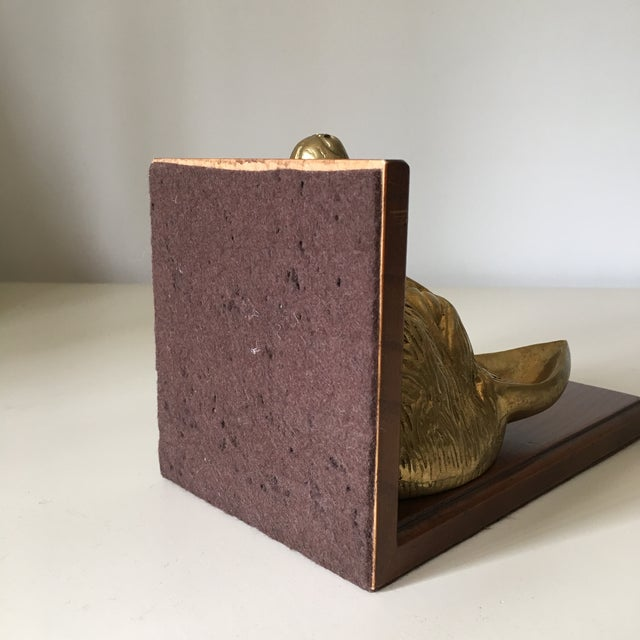 Vintage Fox Head Sculptural Brass & Wood Bookend - Image 6 of 6