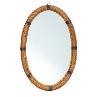 Nautical Rope Oval Mirror For Sale