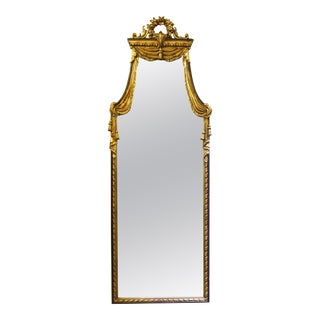 Neoclassical Style Wall Mirror in Giltwood For Sale