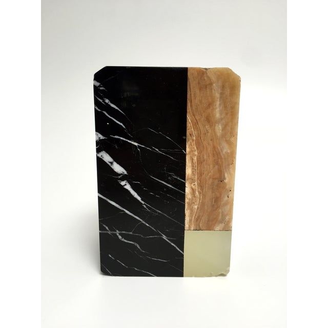 Post-Modern Marble Bookends - A Pair - Image 8 of 9